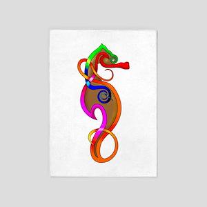 Psychedelic Seahorse 5'x7'Area Rug