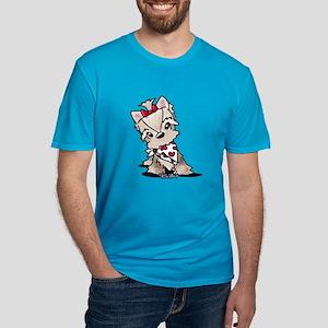 Schnorkie Men's Fitted T-Shirt (dark)