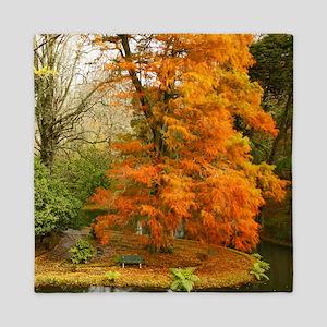 Willow in Autumn colors Queen Duvet