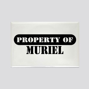 Property of Muriel Rectangle Magnet