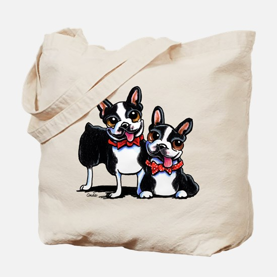 Bowtie Boston Terriers Tote Bag