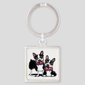 Bowtie Boston Terriers Keychains