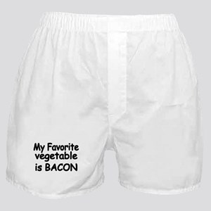 MY FAVORITE VEGETABLE IS BACON Boxer Shorts