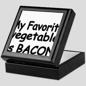 MY FAVORITE VEGETABLE IS BACON Keepsake Box