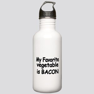 MY FAVORITE VEGETABLE IS BACON Water Bottle