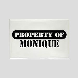 Property of Monique Rectangle Magnet