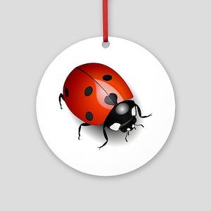 Shiny Ladybug Ornament (Round)
