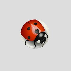 Shiny Ladybug Mini Button