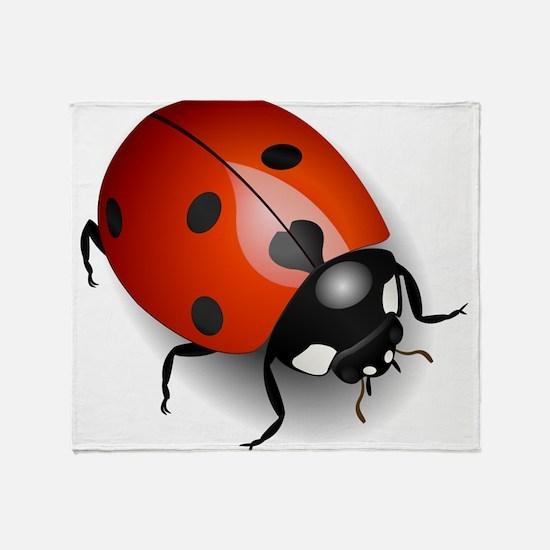 Shiny Ladybug Throw Blanket