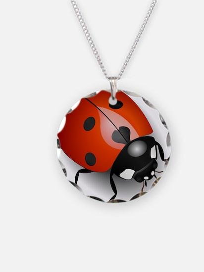 Shiny Ladybug Necklace