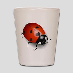 Shiny Ladybug Shot Glass
