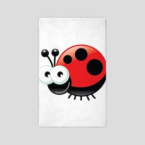 Happy Ladybug 3'x5' Area Rug