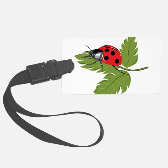 Ladybug on Leaf Luggage Tag