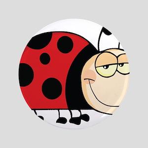 "Cute Ladybug 3.5"" Button"
