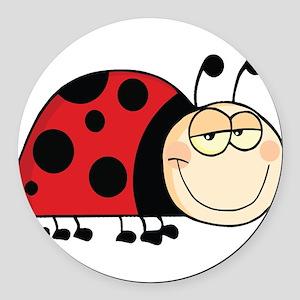 Cute Ladybug Round Car Magnet