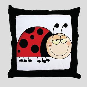 Cute Ladybug Throw Pillow