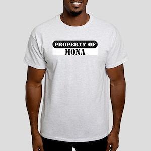Property of Mona Ash Grey T-Shirt