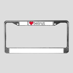iluvbeirut/lebanon License Plate Frame