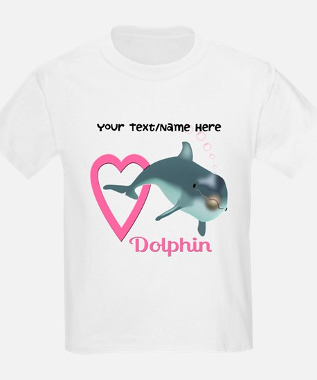 Unique Pink and dolphin T-Shirt