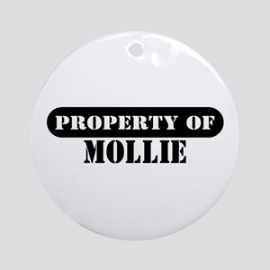 Property of Mollie Ornament (Round)