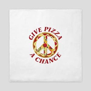 Give Pizza A Chance Queen Duvet