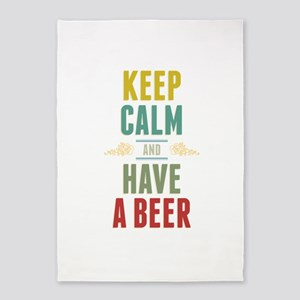 Keep Calm And Have A Beer 5'x7'Area Rug