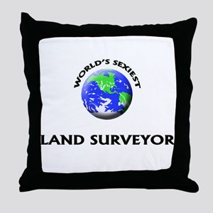 World's Sexiest Land Surveyor Throw Pillow