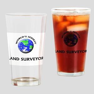 World's Sexiest Land Surveyor Drinking Glass