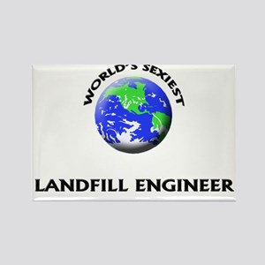 World's Sexiest Landfill Engineer Rectangle Magnet