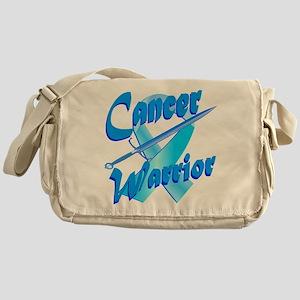 Cancer Warrior Blue Messenger Bag