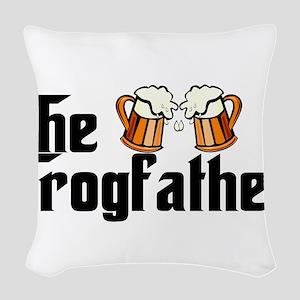 The Grogfather Woven Throw Pillow