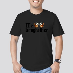 The Grogfather Men's Fitted T-Shirt (dark)