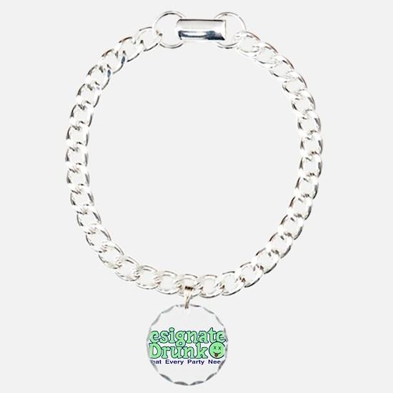 Designated Drunk Charm Bracelet, One Charm