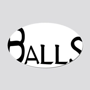 Balls 20x12 Oval Wall Decal