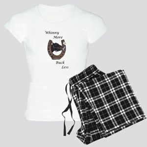Cute Whinny More Buck Less Horse Pajamas