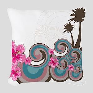 Tropical Wave Woven Throw Pillow