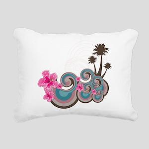 Tropical Wave Rectangular Canvas Pillow