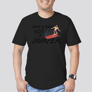 Ride A Surfer Men's Fitted T-Shirt (dark)