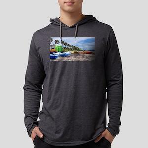 Kayak Beach Mens Hooded Shirt