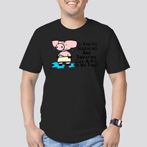 Sweating Like A Pig Men's Fitted T-Shirt (dark)