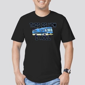 How I Roll RV Men's Fitted T-Shirt (dark)