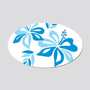 Blue Hibiscus Wall Decal