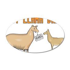 Baby Llama Drama Wall Decal
