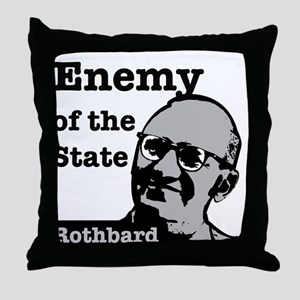Enemy of the State - Rothbard Throw Pillow