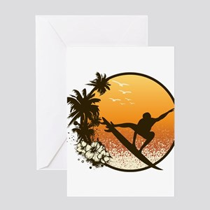 Tropics Surf Greeting Card