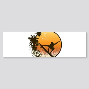 Tropics Surf Bumper Sticker