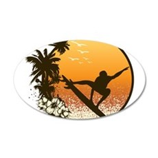 Tropics Surf Wall Decal