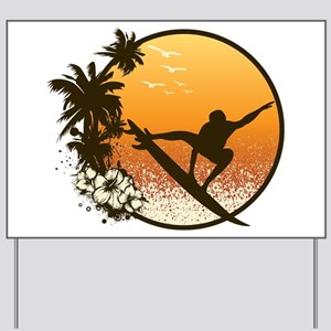 Tropics Surf Yard Sign