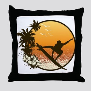 Tropics Surf Throw Pillow