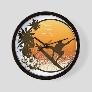 Tropics Surf Wall Clock